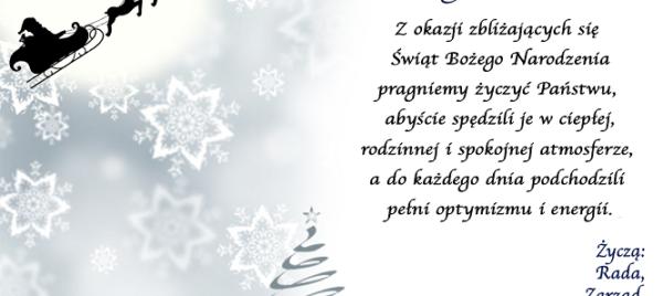 Życzenia na Boże Narodzenie 2019