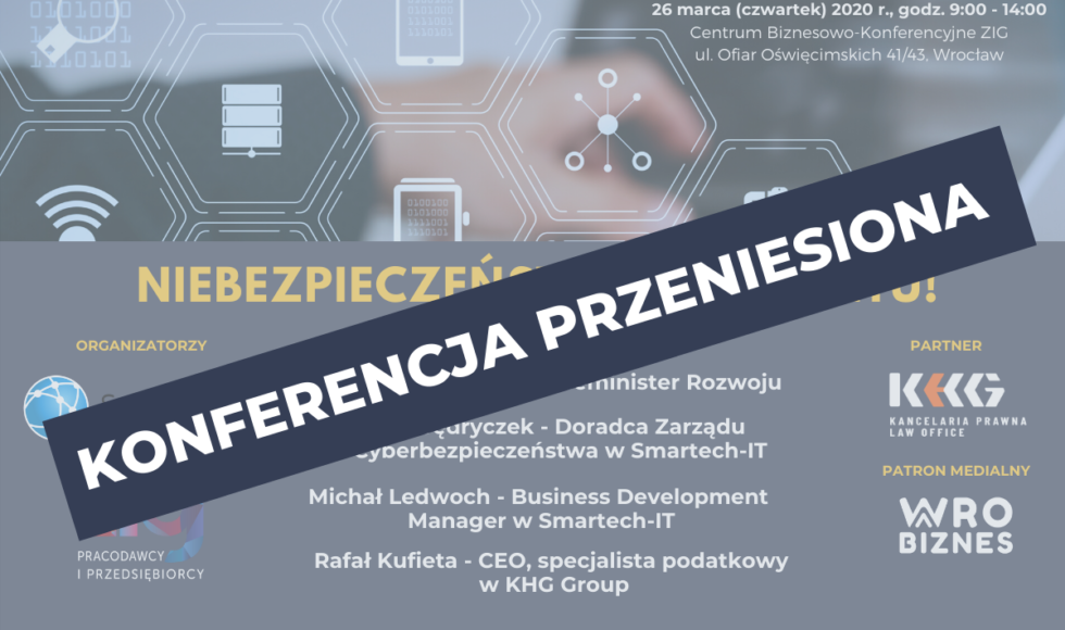 Przeniesiona Konferencja Niebezpieczeństwo Internetu - baner